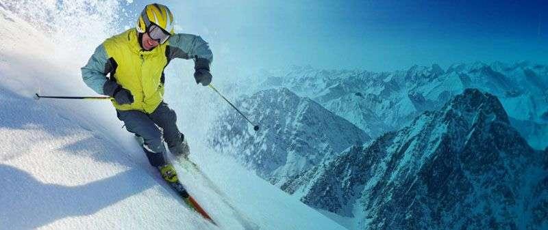 Skier representing tax planning